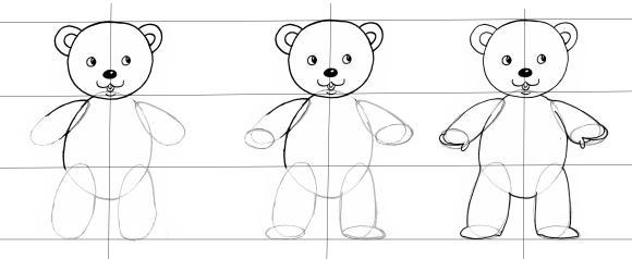 Comment dessiner un nounours - Comment dessiner un ours ...